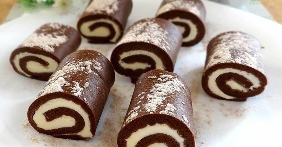 Շոկոլադե ռուլետի բաղադրատոմս ՝ նրբահամ և բերանում հալչող միջուկով