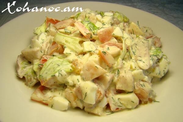 салат из куриные копчёное фото
