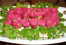 Աղցան «Վարդեր սիրելիի համար»