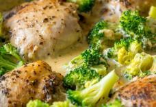 Համեղ ուտեստ հավով և բրոկոլիով