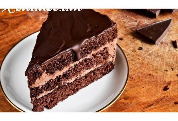 Արագ պատրաստվող կրեմով շոկոլադե թխվածք