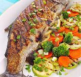 Ձուկ բանջարեղենով