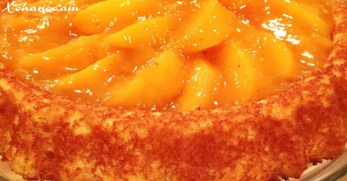 Շատ համեղ թխվածք ՝ պատրաստված դեղձով