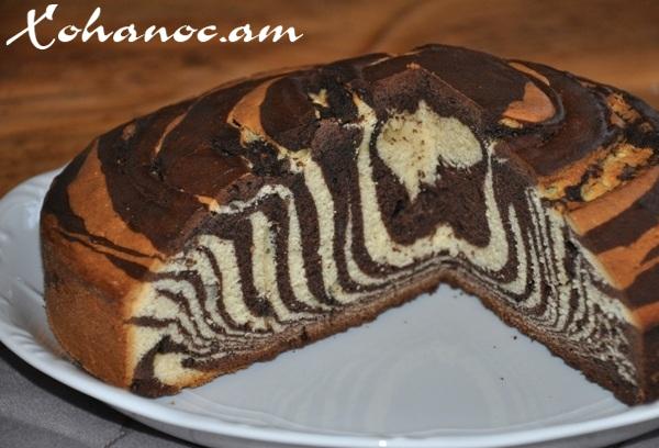Торт зебра с фото в духовке