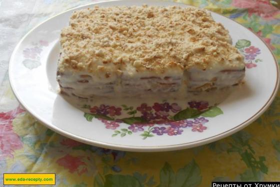 Торт из печенья и творога пошаговый рецепт с