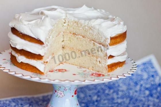 Кулинарный рецепт Крем из манки на молоке для торта