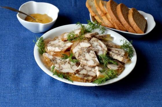 Кулинарный рецепт Куриный рулет в пакете