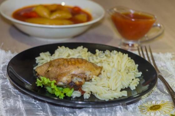 Курица в духовкеы пошагово с фото с майонезом