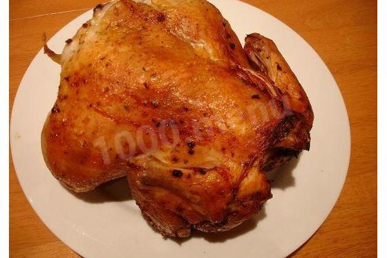 Кулинарный рецепт Курица в фольге на углях целиком