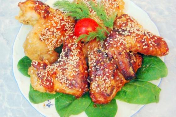 Крылья в духовке с медом и соевым соусом рецепт с пошагово