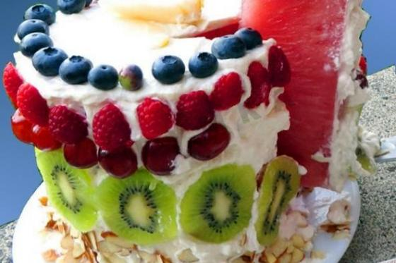 Кулинарный рецепт Арбузный торт