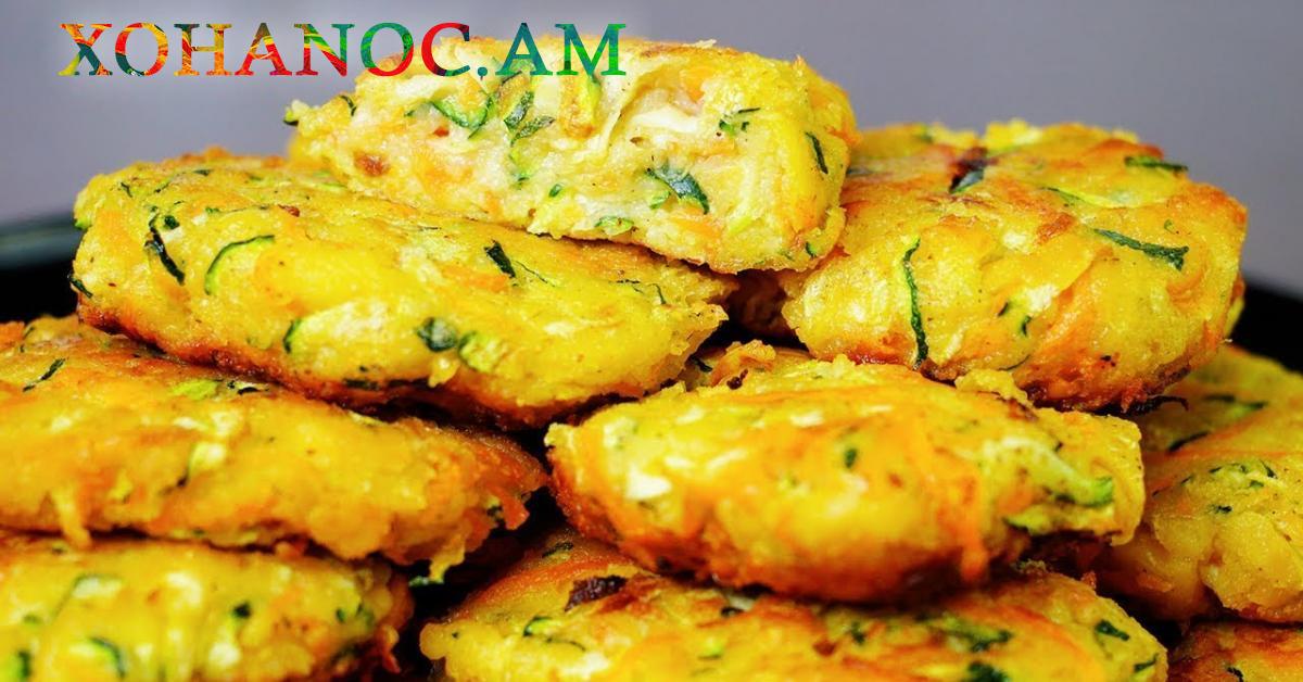Ալադիներ պատրաստված բանջարեղենից և առանց ալյուր, շատ օգտակար և թեթև ուտետսի բաղադրատոմս