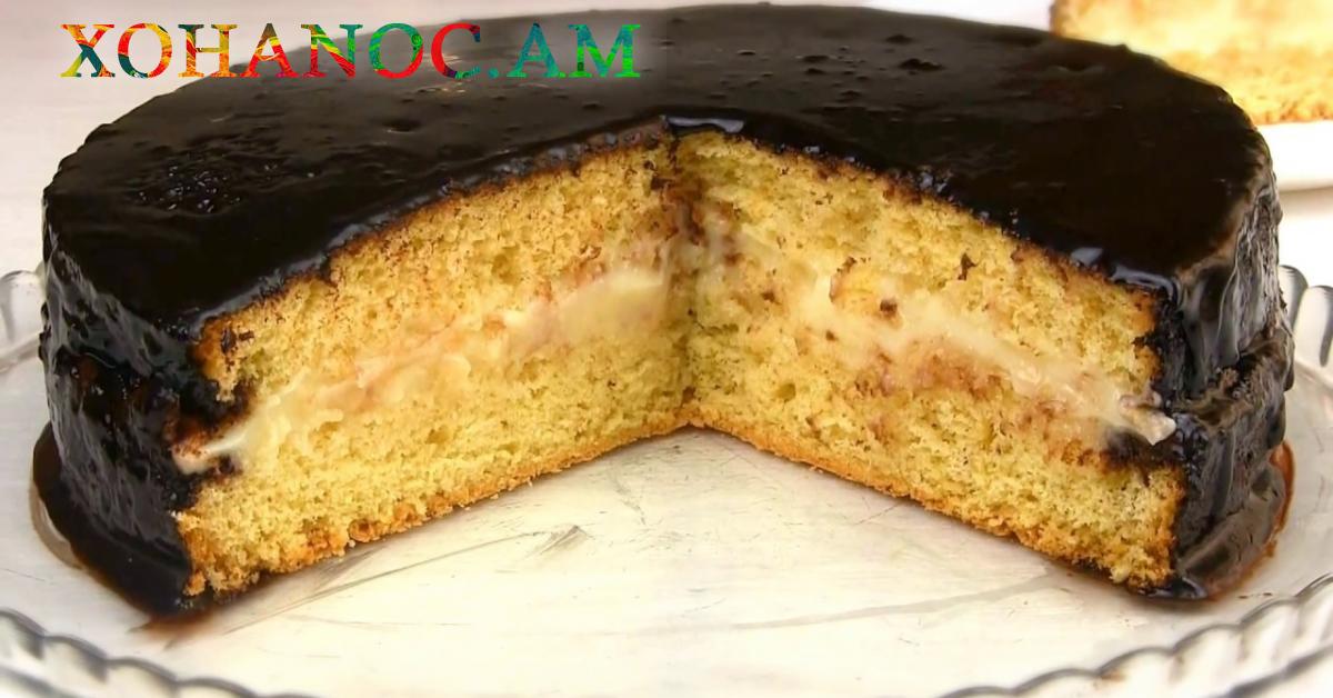 Բիսկվիտով պատրաստված ամենապարզ թխվածքը