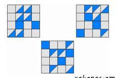 Եթե իրար վրա դենք այս 3 քառակուսիները, քանի հատ սպիտակ փոքր քառակուսի կմնա