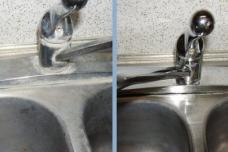Ջրի հետքերը լվացարանի վրայից հեռացնելու հանճարեղ եղանակ