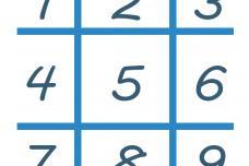 Դասավորել թվերը 3 տողով այնպես, որպեսզի առաջին տողը հավասար լինի 2-րդ տողը բաժանած 2-ի, իսկ  3-րդ տողը 3-ի։