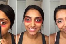 Տեսեք թե ինչ տեղի կունենա, եթե աչքերի տակ կարմիր շրթներկ քսեք․ Կանանց և աղջիկների փրկությունը․ Տեսանյութ